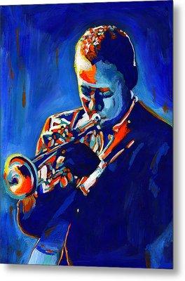 Jazz Man Miles Davis Metal Print by Vel Verrept