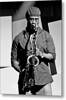 Jazz Musician Metal Print by Achmad Bachtiar