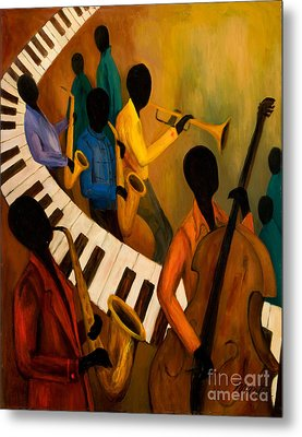 Jazz Quintet And Friends Metal Print by Larry Martin