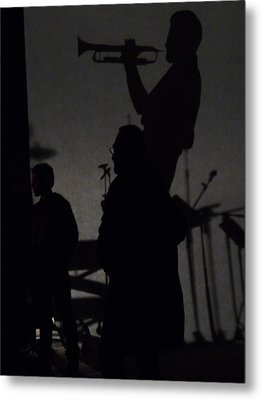 Jazz Shadows Metal Print by Bill Mock