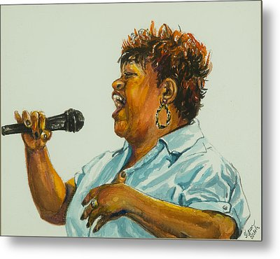 Jazz Singer Metal Print by Sharon Sorrels