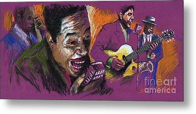 Jazz Songer Metal Print by Yuriy  Shevchuk