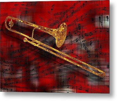 Jazz Trombone Metal Print by Jack Zulli