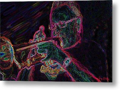 Jazz Trumpet Man Metal Print