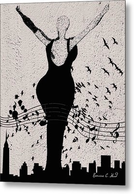 Jazzinthesky Metal Print by Romaine Head