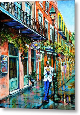 Metal Print featuring the painting Jazz'n by Dianne Parks