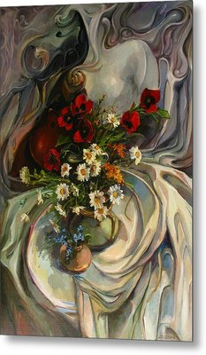 Metal Print featuring the painting Jazzy Still-life by Tigran Ghulyan