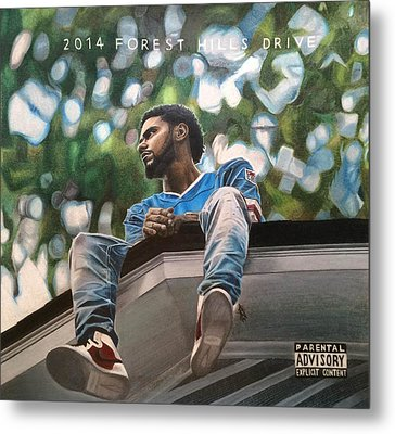 J.cole - 2014 Forest Hills Drive Drawing Metal Print