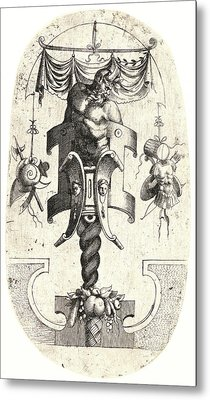 Jean Mignon French, Active 1537–1552. Satyr Leaning Metal Print by Litz Collection