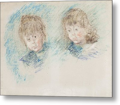 Jean-pierre Hoschede And Michel Monet Pastel Metal Print