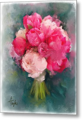 Jean's Bouquet Metal Print by Colleen Taylor