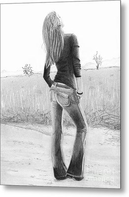 Jeans Metal Print by Denise Deiloh