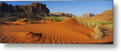 Jebel Qatar From The Valley Floor, Wadi Metal Print