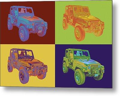 Jeep Wrangler Rubicon Pop Art Metal Print