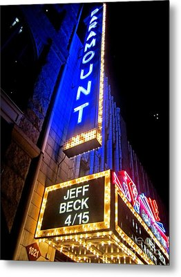 Jeff Beck At The Paramount Metal Print by Fiona Kennard