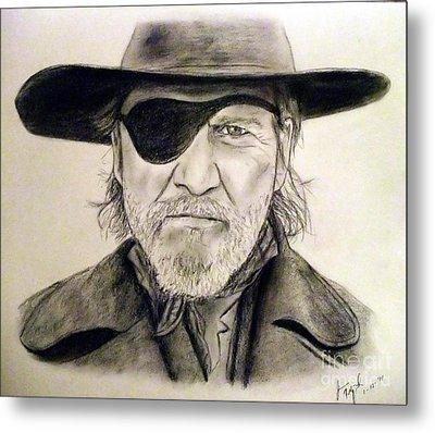 Jeff Bridges As U.s. Marshal Rooster Cogburn Metal Print by Jim Fitzpatrick