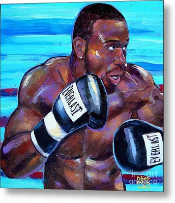 Metal Print featuring the painting Jeff Lacy by Robert Phelps