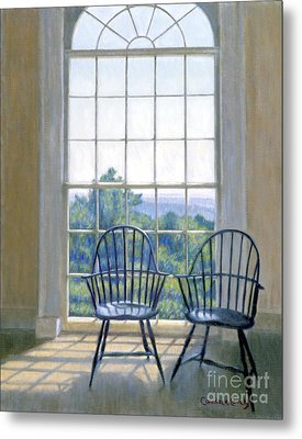 Jefferson And A Friend At Monticello Metal Print by Candace Lovely