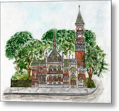 Jefferson Market Library Metal Print by AFineLyne