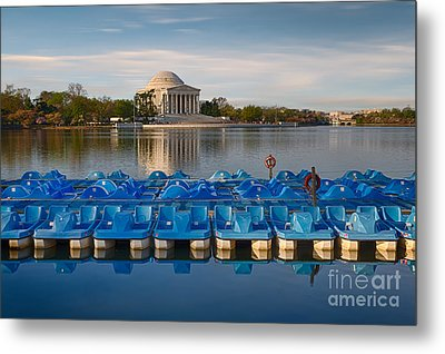 Jefferson Memorial And Paddle Boats Metal Print by Jerry Fornarotto