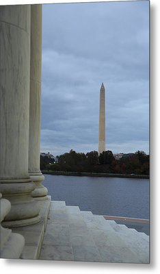 Jefferson Memorial And Washington Monument - Washington Dc - 01131 Metal Print by DC Photographer