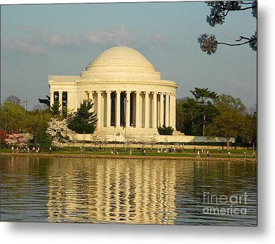 Jefferson Memorial At Sunset Metal Print by Emmy Vickers