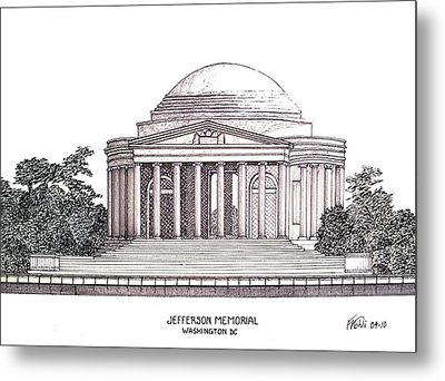 Jefferson Memorial Metal Print by Frederic Kohli