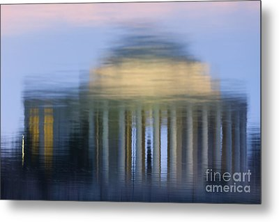 Jefferson Memorial Reflection Metal Print by Clarence Holmes
