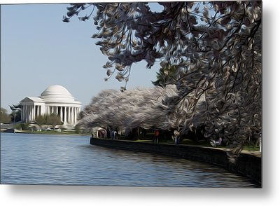 Metal Print featuring the digital art Jeffersonian Blossoms by Kelvin Booker