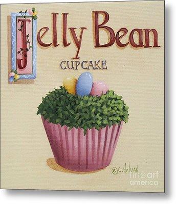 Jelly Bean Cupcake Metal Print by Catherine Holman