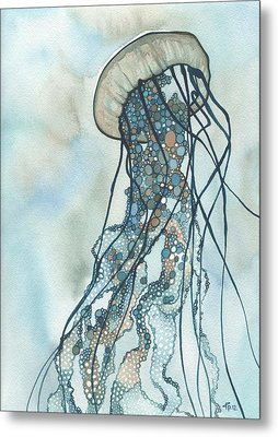 Jellyfish Three Metal Print by Tamara Phillips