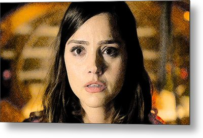 Metal Print featuring the digital art Jenna-louise Coleman - The Doctor's Companion by David Blank