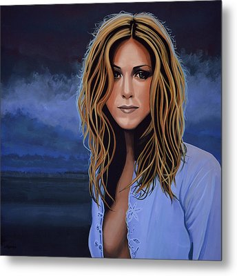 Jennifer Aniston Painting Metal Print by Paul Meijering