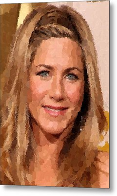 Jennifer Aniston Portrait Metal Print