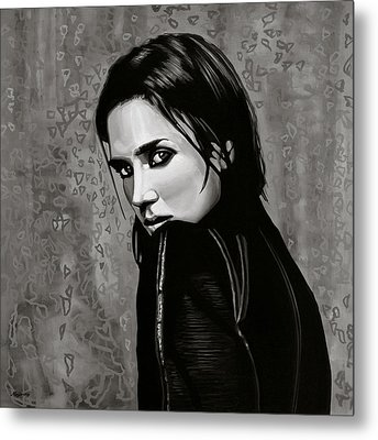 Jennifer Connelly Painting Metal Print by Paul Meijering