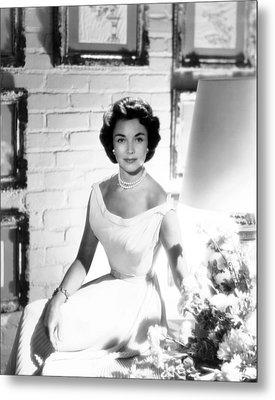 Jennifer Jones, At Home, Ca. Late 1950s Metal Print