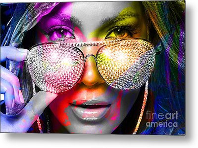 Jennifer Lopez  Metal Print by Marvin Blaine