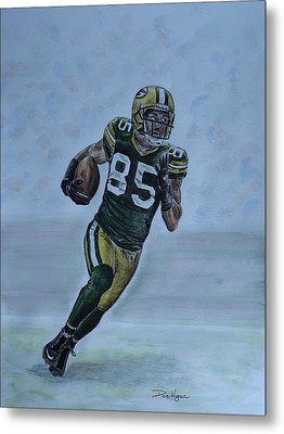 Metal Print featuring the painting Jennings On The Run by Dan Wagner