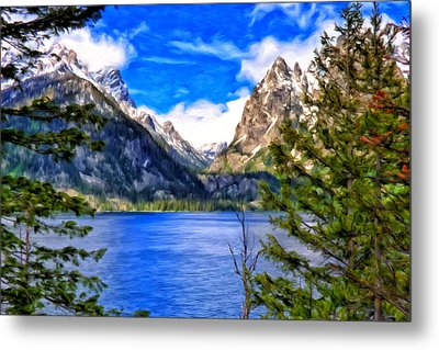Jenny Lake Metal Print by Michael Pickett