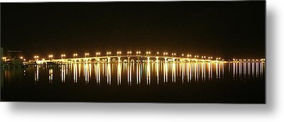 Jensen Causeway At Night Metal Print