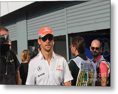 Jenson Button Metal Print by David Grant