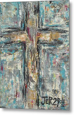 Jeremiah Cross Metal Print by Kirsten Reed