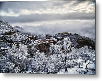 Metal Print featuring the photograph Jerome After Icy Snow Storm by Ron Chilston