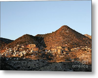 Jerome Arizona At Sunrise Metal Print by Ron Chilston
