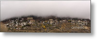 Jerome Arizona Beneath The Clouds Metal Print by Ron Chilston