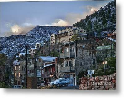 Jerome Arizona Sunrise Hdr Metal Print by Ron Chilston