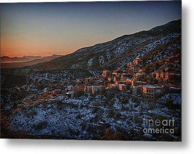 Metal Print featuring the photograph Jerome Sunrise From Sunshine Hill by Ron Chilston