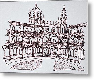 Jeronimos Monastery Cloister, Lisbon Metal Print
