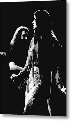 Jerry And Donna Godchaux 1978 A Metal Print by Ben Upham