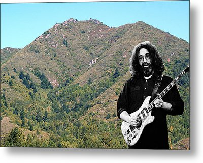 Jerry Garcia And Mount Tamalpais Metal Print by Ben Upham III